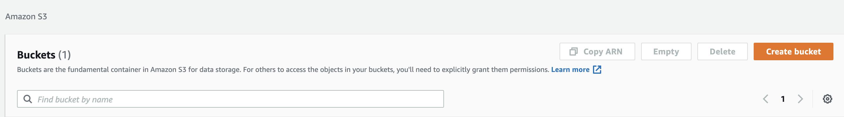 Create Bucket Step 1