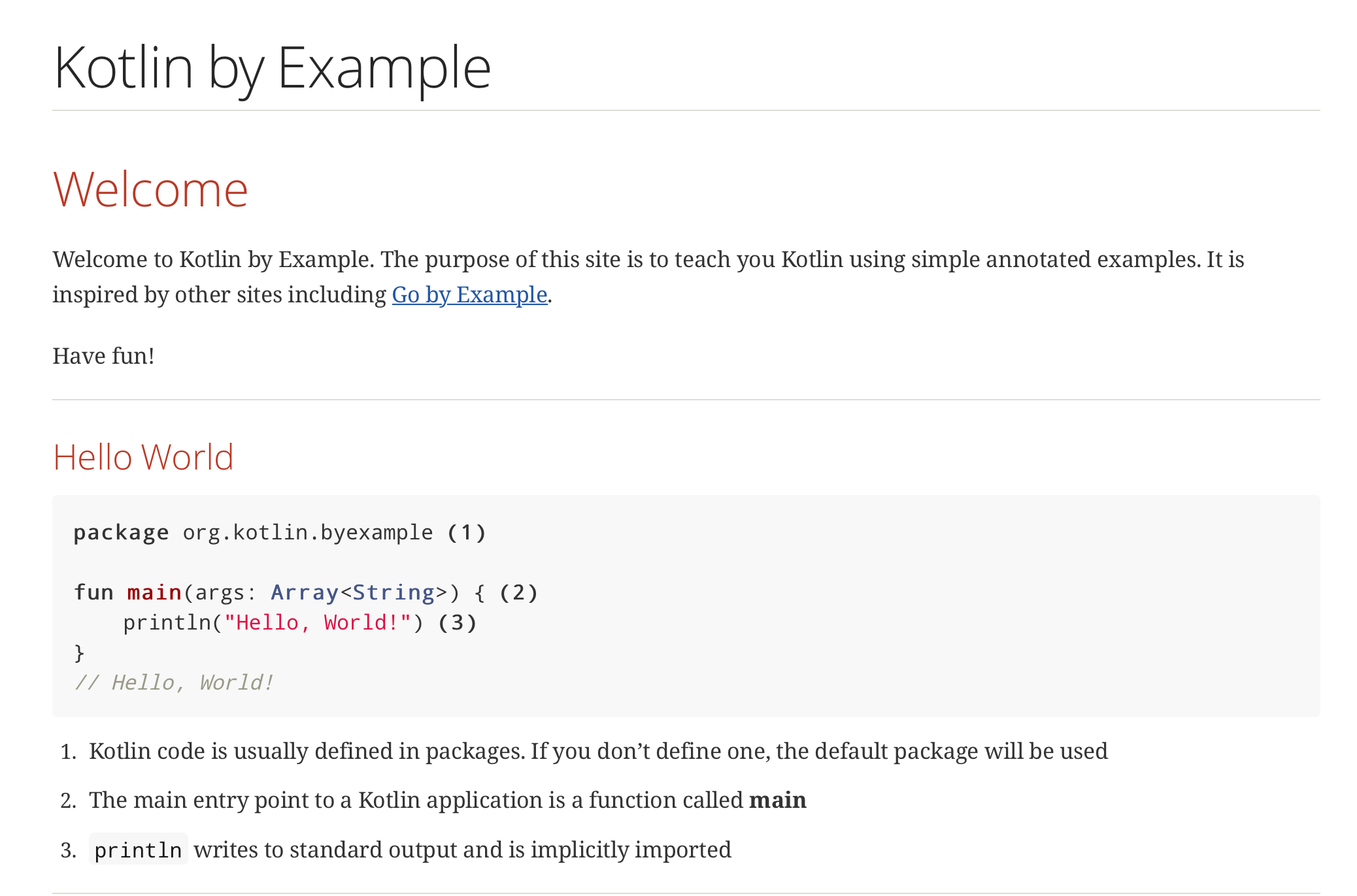 Kotlin by Example Site