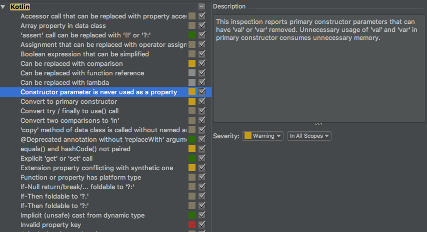 Inspections in IntelliJ IDEA